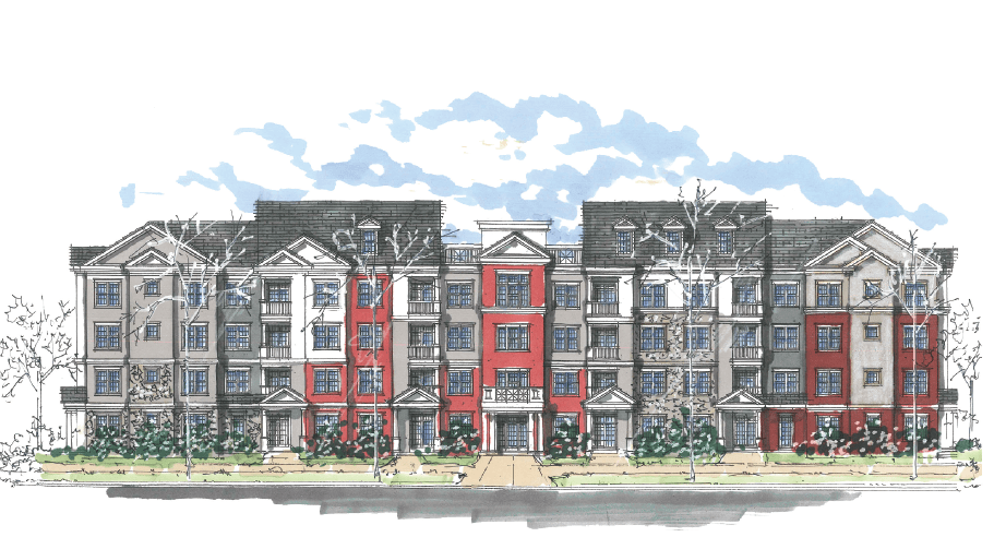 sketch of new construction plans