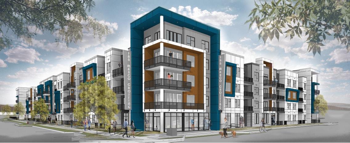 mockup of new apartments