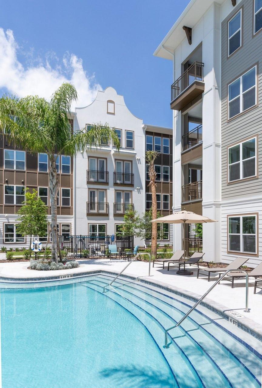 new apartment complex pool