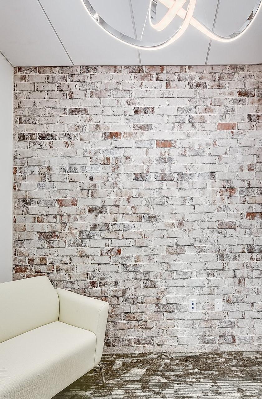 brick wall sofa