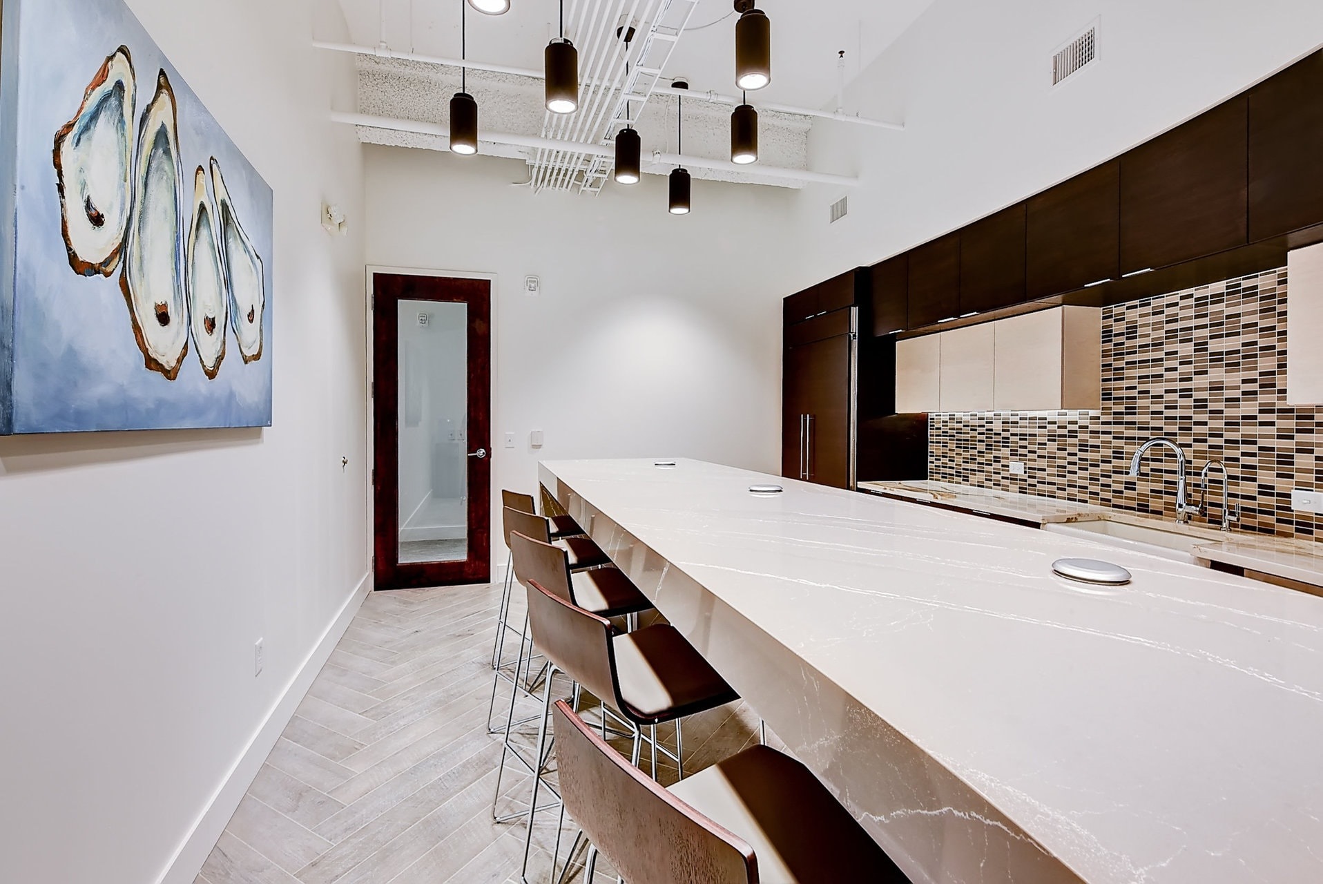 wet bar in office space