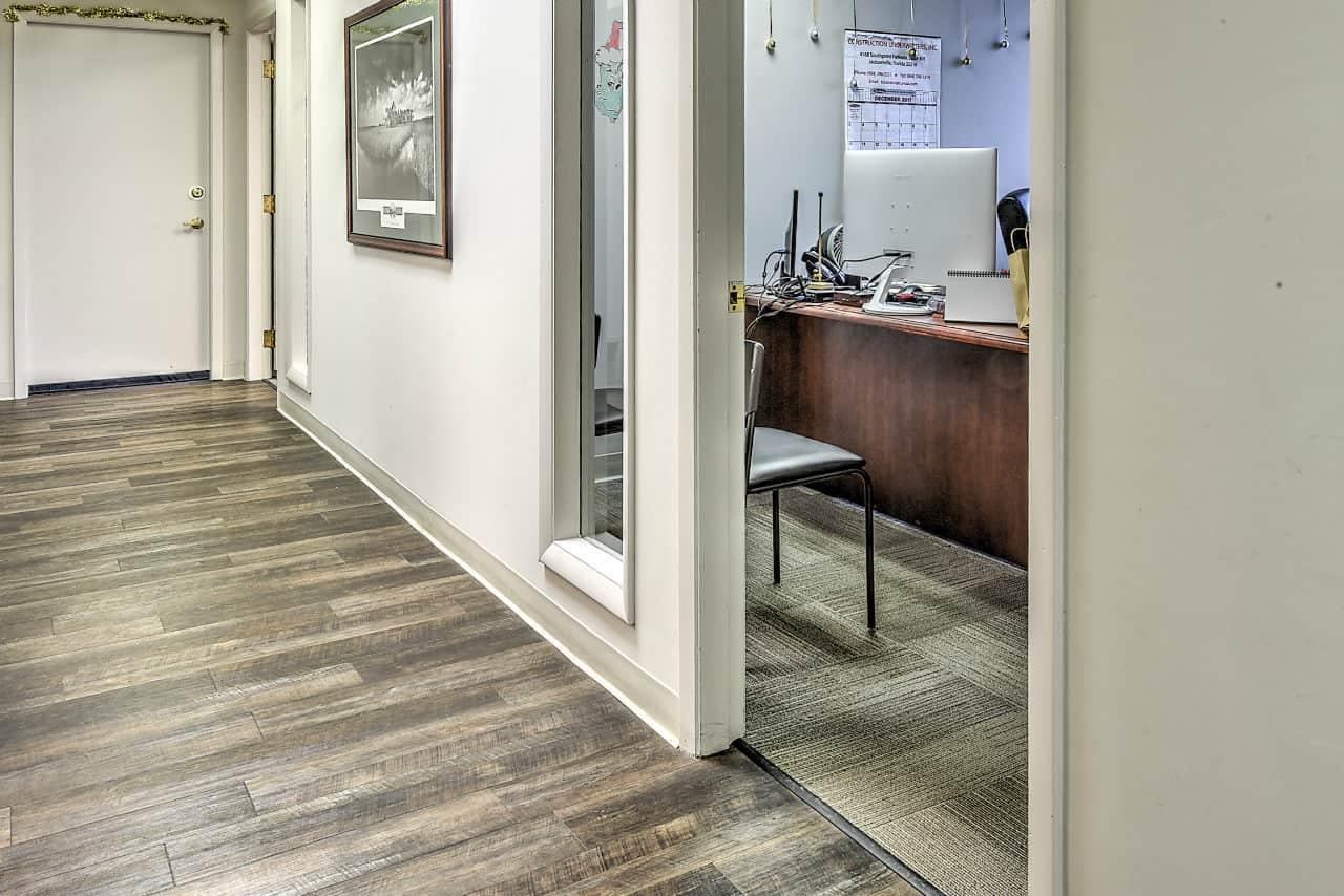 office space hallway