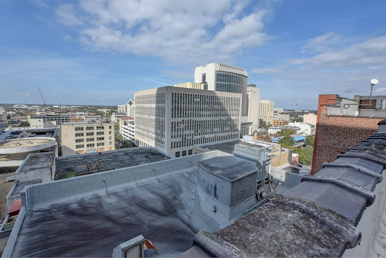 rooftop building view
