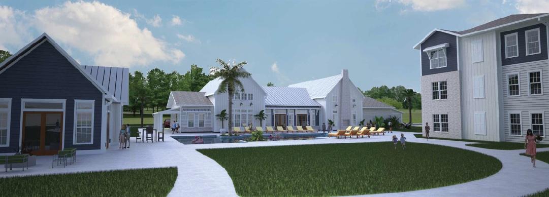 rendering of apartment complex