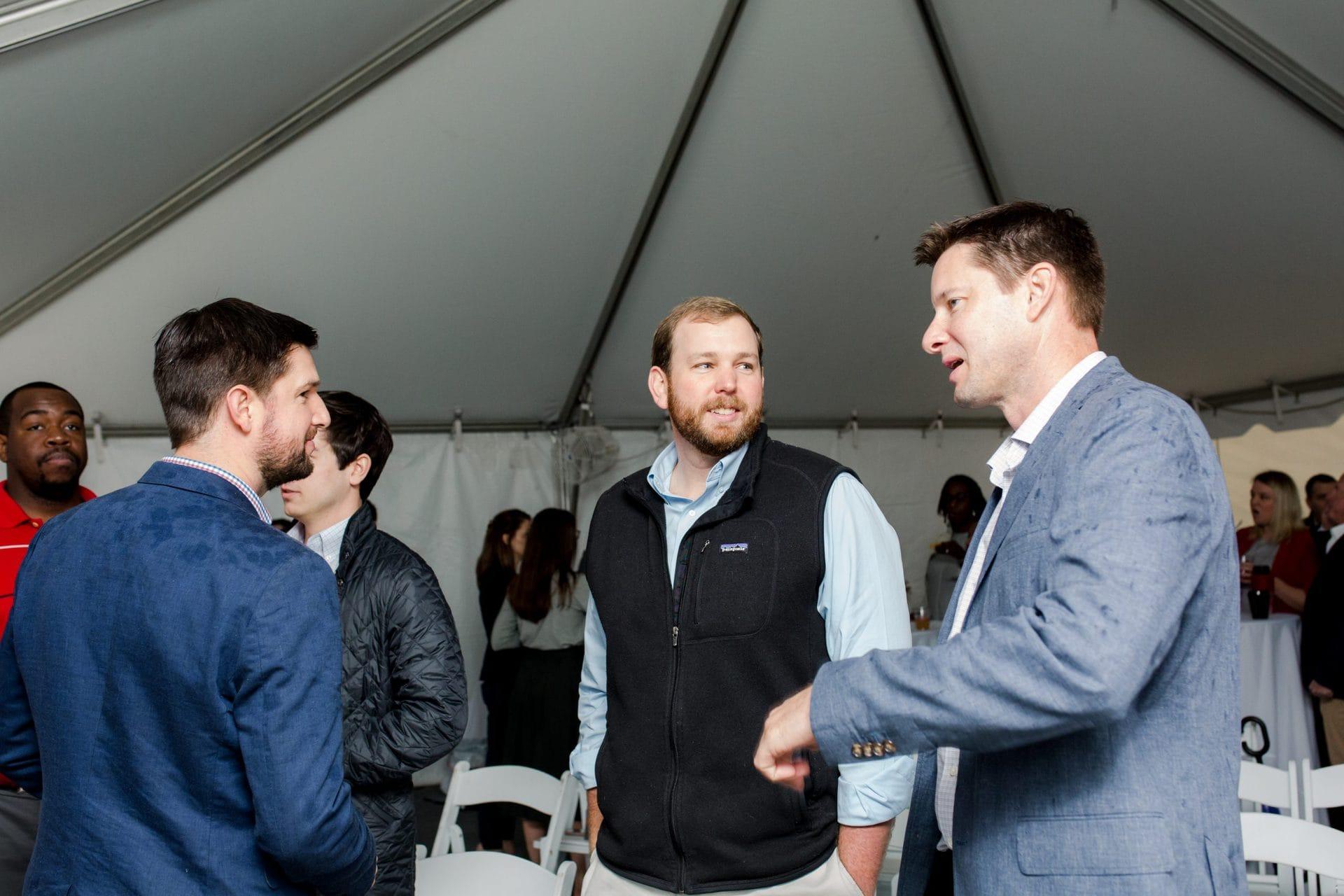 group of men conversation