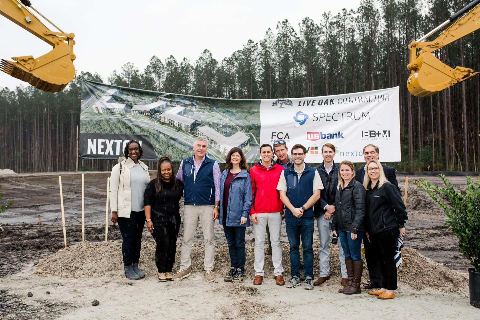 breaking ground on new construction project