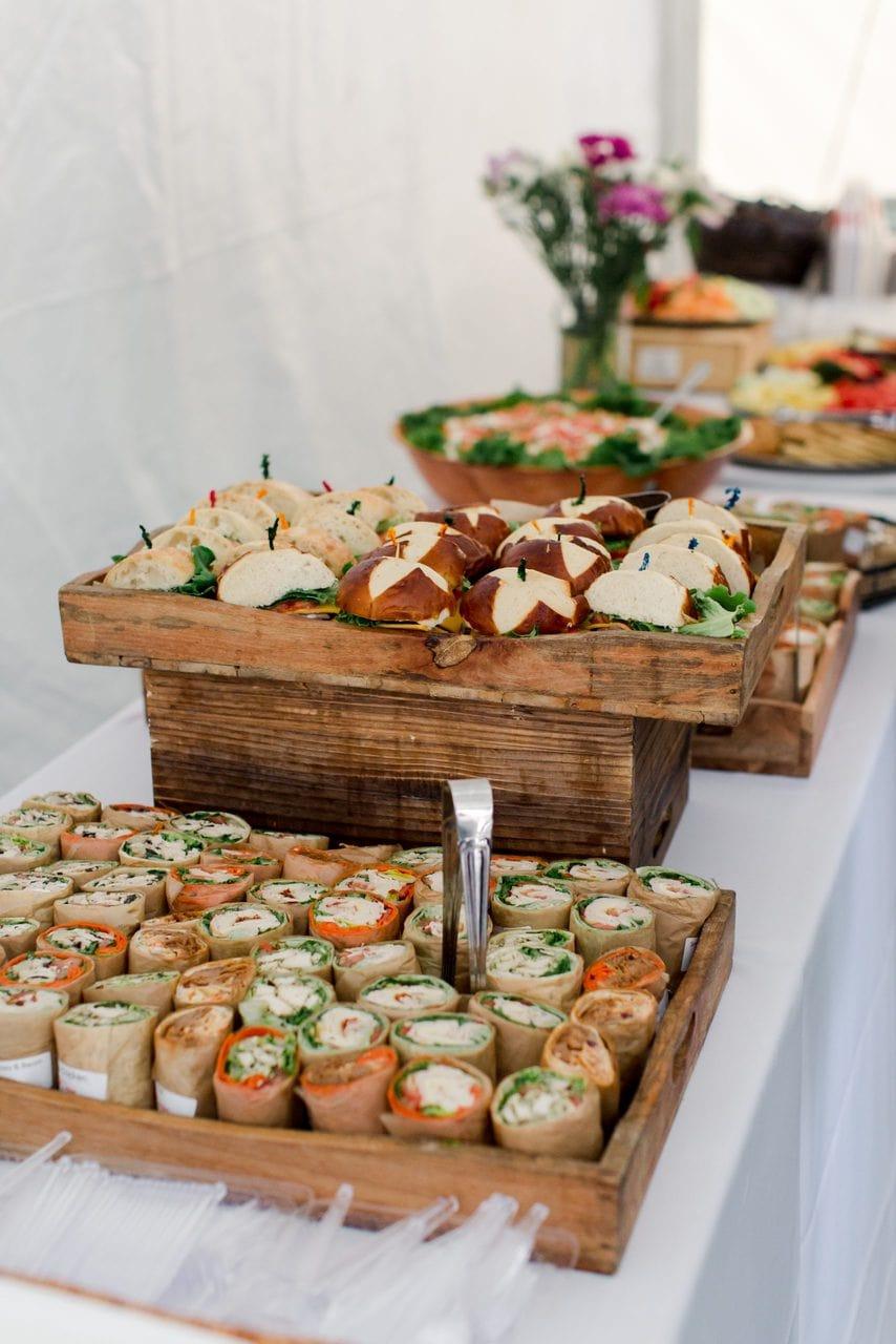 small sandwich platter
