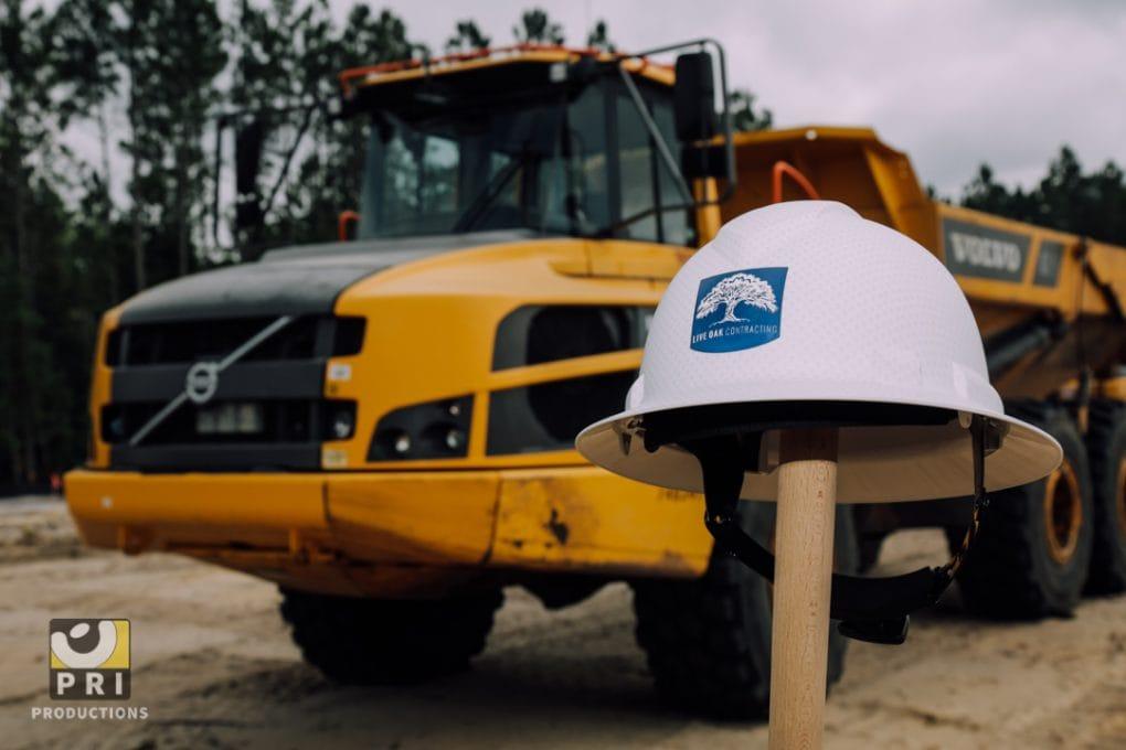 construction helmet tractor