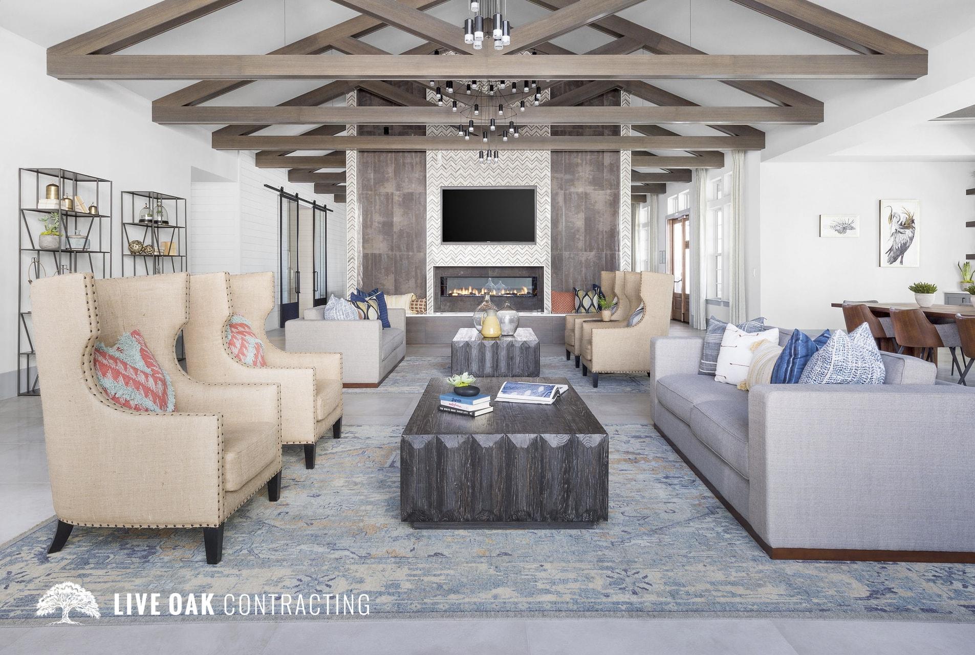 community living space sofa