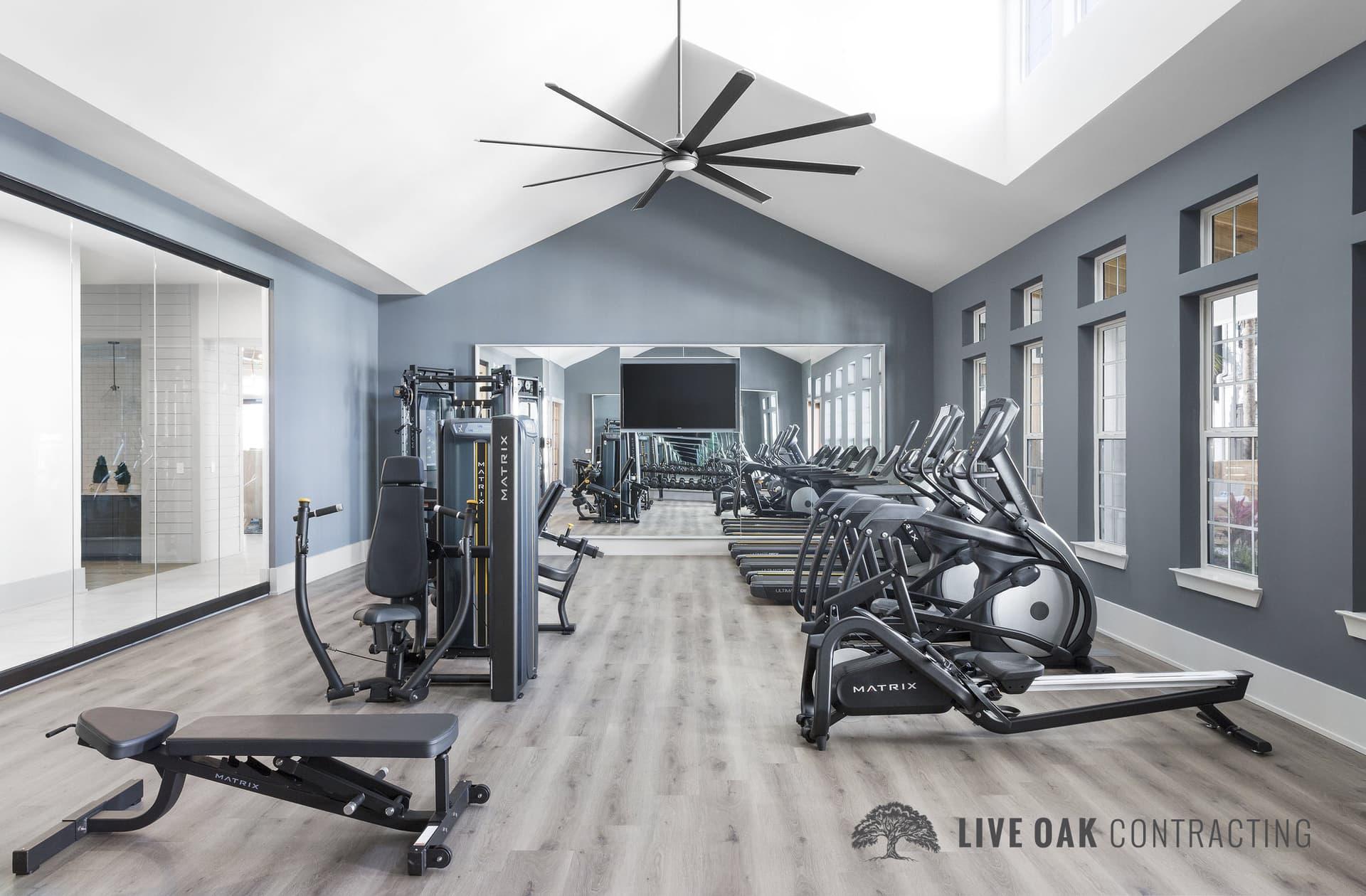 fitness center gym equipment
