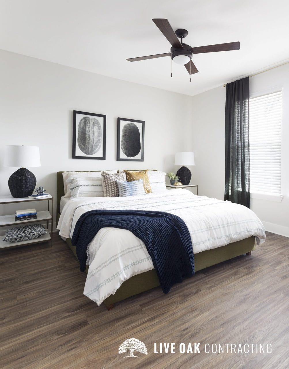 bedroom hardwood fan