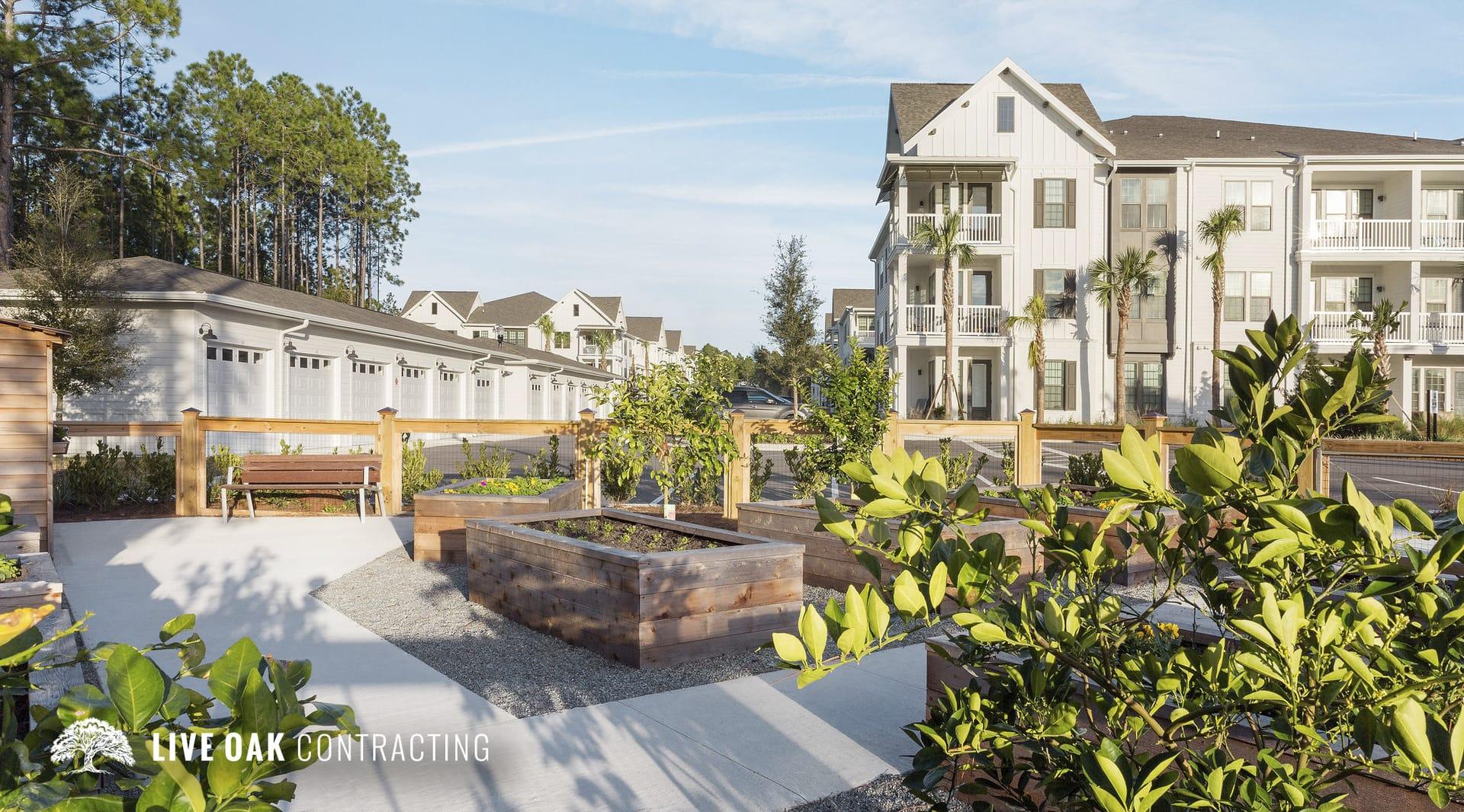 apartment complex community garden