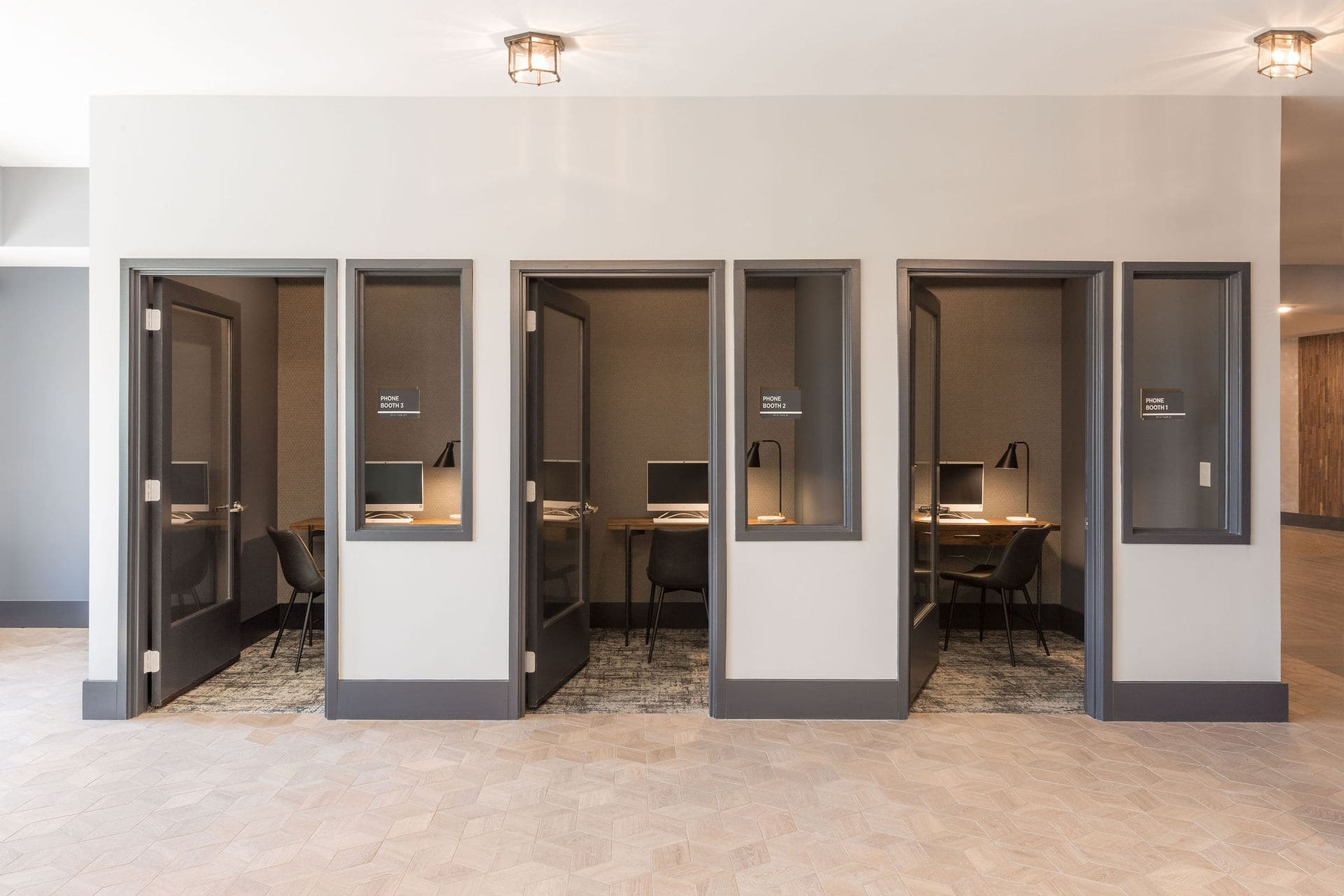 three office spaces