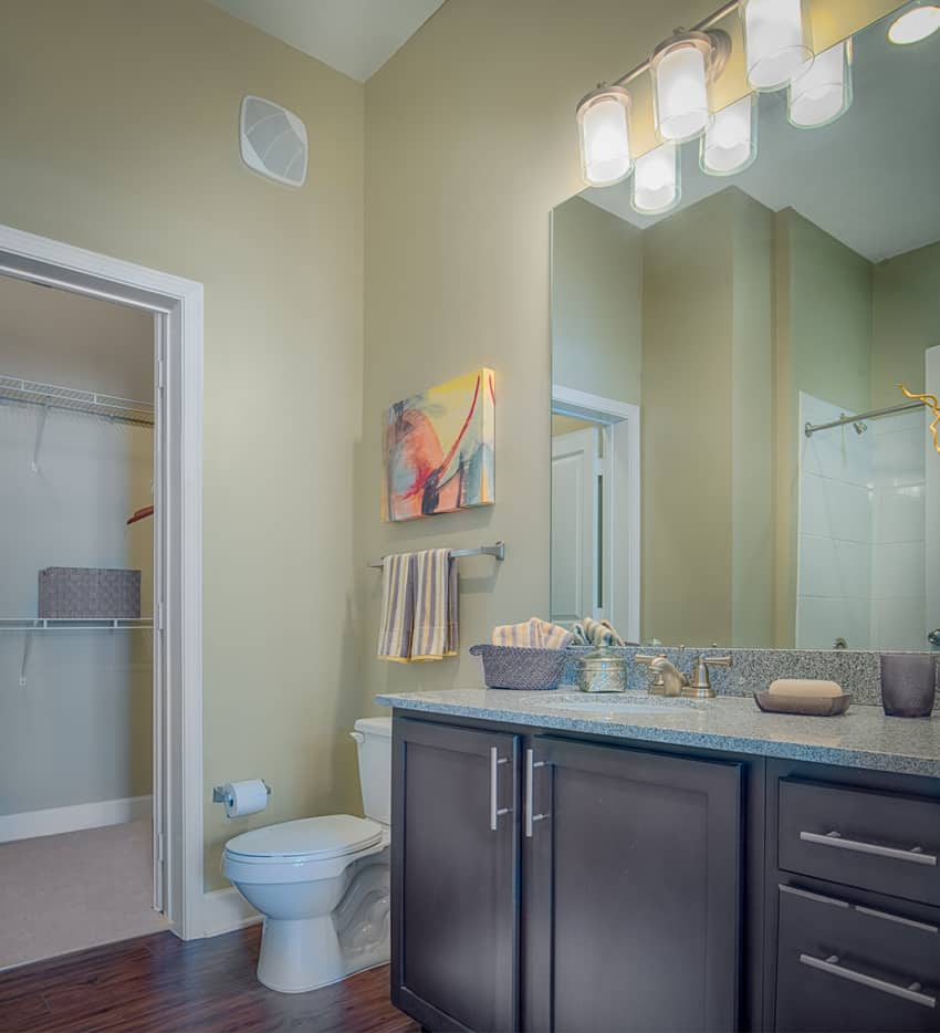 bathroom sink closet toilet