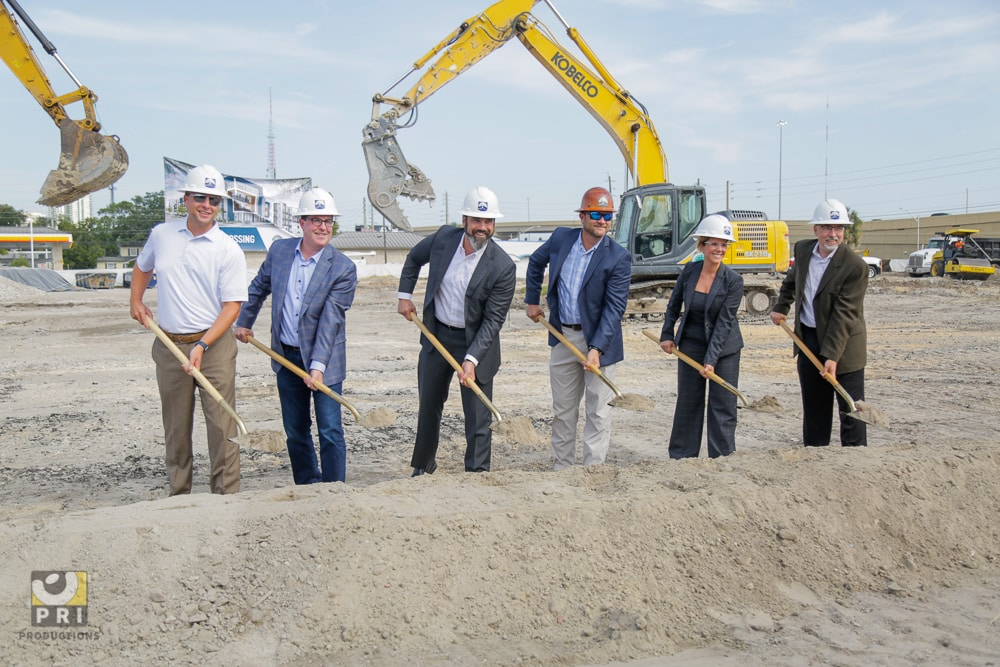 ground breaking construction site