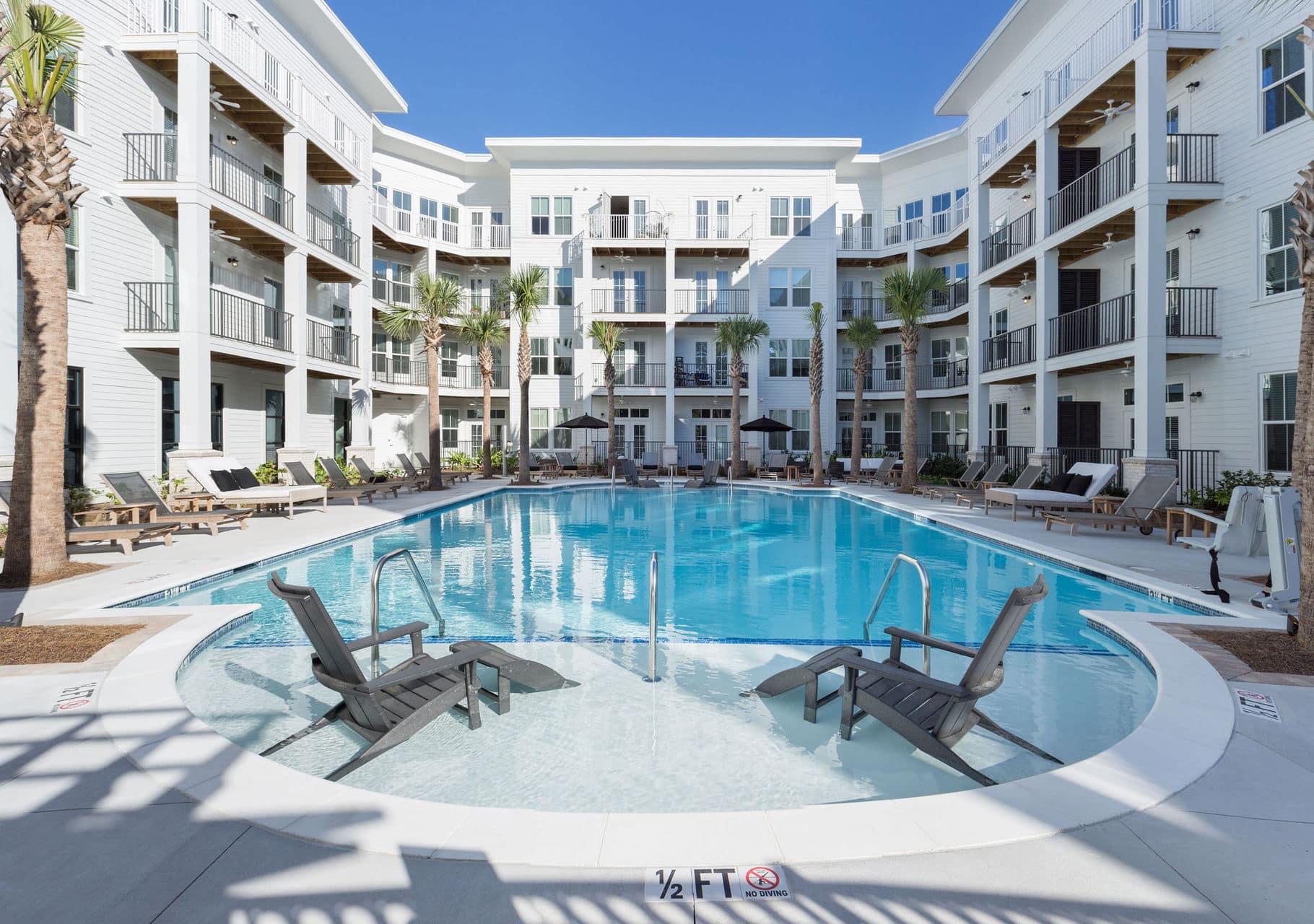 apartment complex new pool