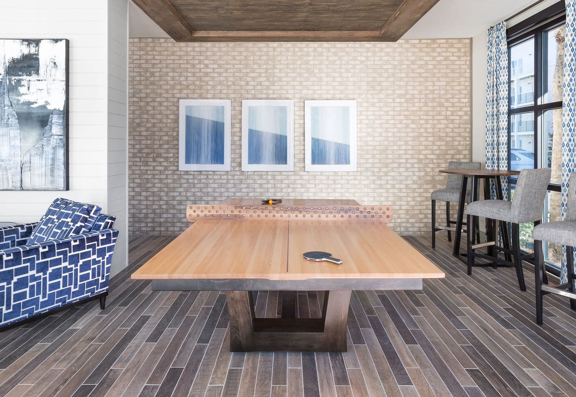 community living space ping pong