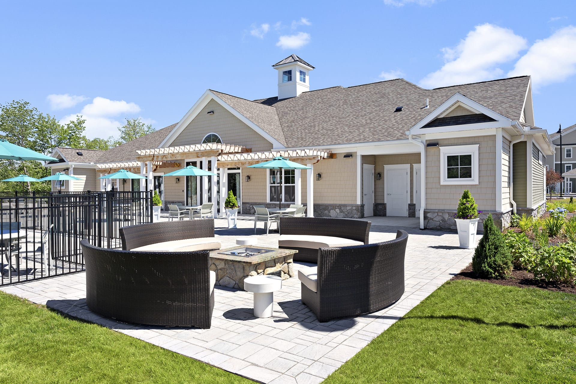fire pit apartment clubhouse